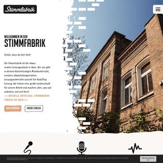 Startseite-Stimmfabrik