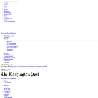 Washington Post- Breaking News, World, US, DC News & Analysis - The Washington Post