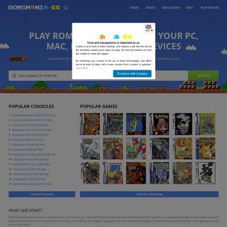 Free ROMs Download for NES, SNES, 3DS, GBC, GBA, N64, GCN, SEGA, PSX, PSP and More - RomsMania.cc
