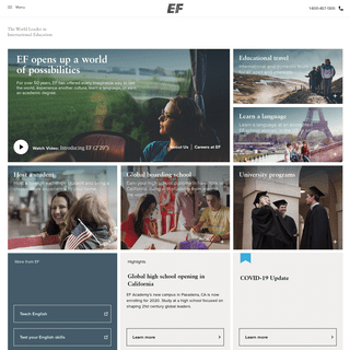 EF Education First - Educational Tours & Language Programs Abroad