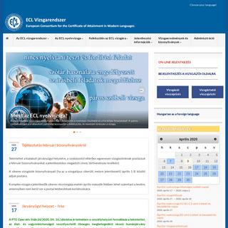 ECL Vizsgarendszer – European Consortium for the Certificate of Attainment in Modern Languages
