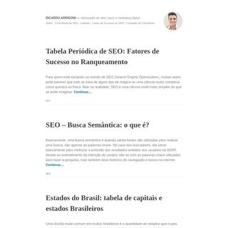 Ricardo Arrigoni- Otimização de sites (SEO) e Marketing Digital