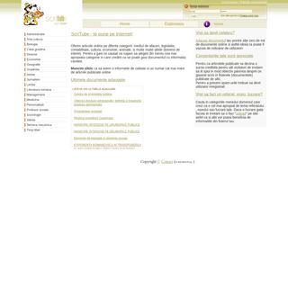 Scritube - publica fisierul tau pe internet, articole, documente, informatii online