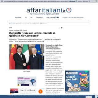 ArchiveBay.com - www.affaritaliani.it/cronache/coronavirus-20-persone-dimesse-epidemia-adesso-rallenta-652356.html - Mattarella ricuce con la Cina- concerto al Quirinale. Xi- -Commosso- - Affaritaliani.it
