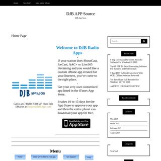 Home Page - DJB APP Source