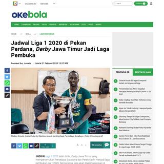 Jadwal Liga 1 2020 di Pekan Perdana, Derby Jawa Timur Jadi Laga Pembuka - Okezone Bola