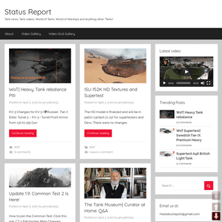 Status Report – Tank news, Tank videos, World of Tanks, World of Warships and anything other -Tanks-.