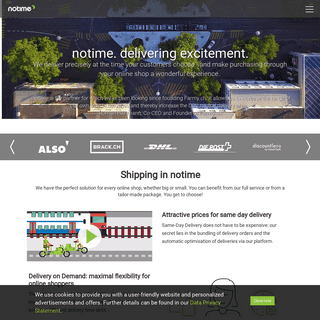 notime - exciting full service logistics for e-commerce, restaurants, and marketplaces