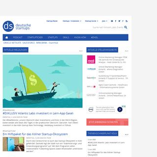 deutsche-startups.de - News zu Startups, Venture Capital und digitalen Jobs
