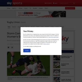 Storm Ciara- Scotland vs England Women's Six Nations rearranged - Rugby Union News - Sky Sports
