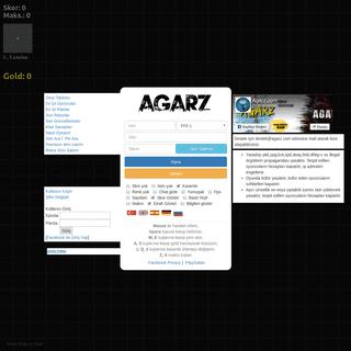 AgarZ - çok oyunculu tarayıcı oyunu
