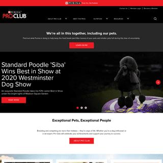Dog Home - Purina® Pro Club®