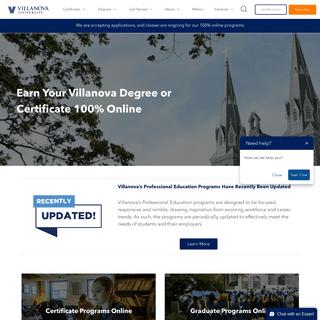 Degree and Certificate Programs Online - Villanova University