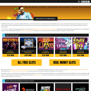 Online Slots - Play Free Slots and Casino Games at MrGamez