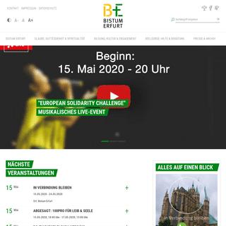 Startseite Bistum Erfurt
