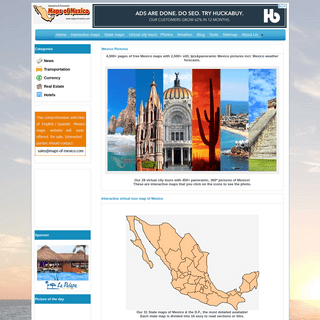Map of Mexico Directory - 4,000+ pages of mexico maps with 2,500+ still, ipix and panoramic mexico pictures including mexico wea