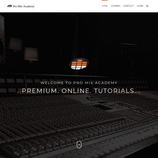 Home - Pro Mix Academy