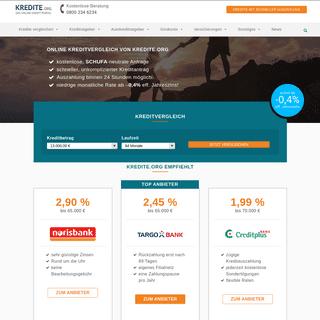 Kredite.org- Ihr seriöser online Kreditvergleich - schon ab 0,00- eff.