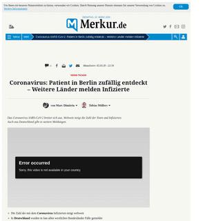 ArchiveBay.com - www.merkur.de/welt/coronavirus-deutschland-nrw-gibt-einen-weiteren-fall-zr-13560844.html - Coronavirus SARS-CoV-2-Patient in Berlin zufällig entdeckt – Weitere Länder melden Infizierte - Welt