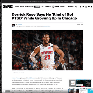 Derrick Rose Says He 'Kind of Got PTSD' While Growing Up In Chicago - Complex