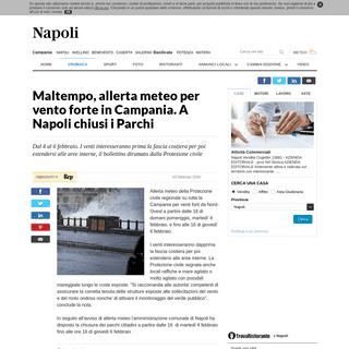 Maltempo, allerta meteo per vento forte in Campania. A Napoli chiusi i Parchi - la Repubblica