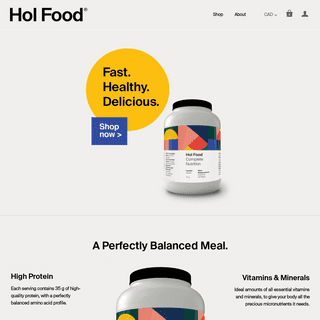 Hol Food - Complete Nutrition - Fast. Healthy. Delicious.