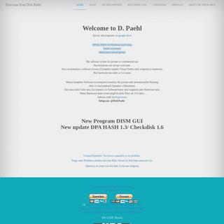 Freeware from Dirk Paehl - Homepage from D.Paehl