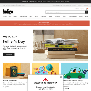 Canada's Biggest Bookstore- Buy Books, Toys, Electronics, Paper Stationery, Home Decor & More - chapters.indigo.ca