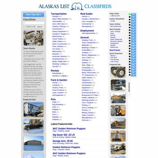 Alaska's List Classifieds