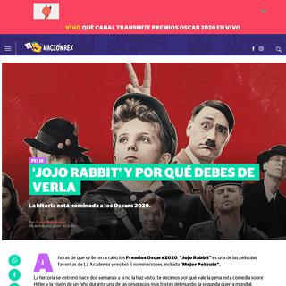 'Jojo Rabbit' y por qué debes de verla - Nación Rex