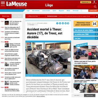 ArchiveBay.com - www.lameuse.be/522528/article/2020-02-21/accident-mortel-theux-aurore-17-de-trooz-est-decedee - Accident mortel à Theux- Aurore (17), de Trooz, est décédée - Édition digitale de Liège
