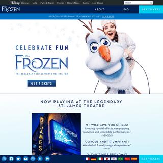 Disney FROZEN - The Broadway Musical – Homepage