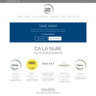 Restaurants Ca la Nuri · Grup Calanuri
