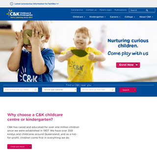 C&K - childcare and kindergarten - Where Children Come First