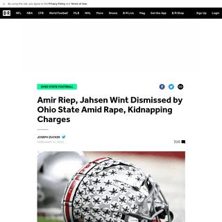 ArchiveBay.com - bleacherreport.com/articles/2876023-amir-riep-jahsen-wint-dismissed-by-ohio-state-amid-rape-kidnapping-charges - Amir Riep, Jahsen Wint Dismissed by Ohio State Amid Rape, Kidnapping Charges - Bleacher Report - Latest News, Videos and Highlig