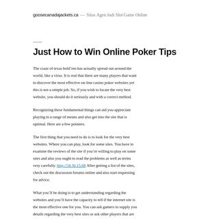 goosecanadajackets.ca – Situs Agen Judi Slot Game Online