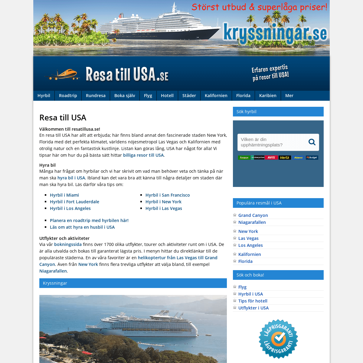 ArchiveBay.com - resatillusa.se - Resa till Usa - Allt inför dina resor till USA!