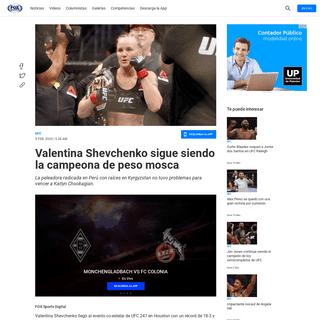 Valentina Shevchenko sigue siendo la campeona de peso mosca