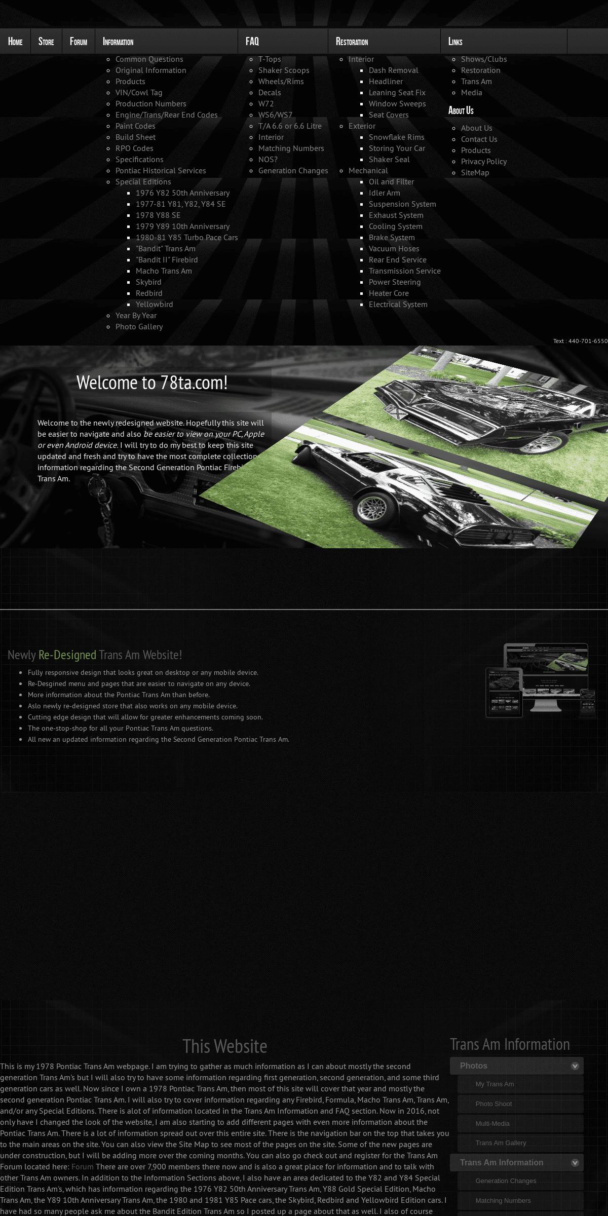 Hitman's Pontiac Trans Am Site