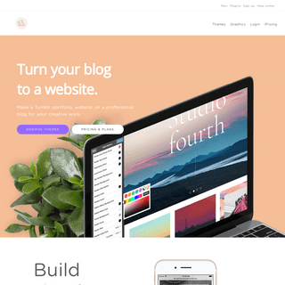 Themecloset - Create a website with your Tumblr blog.