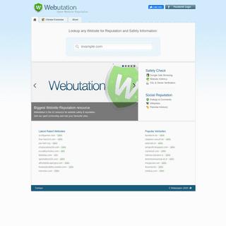 Webutation - Website Reputation Community against fraud and badware