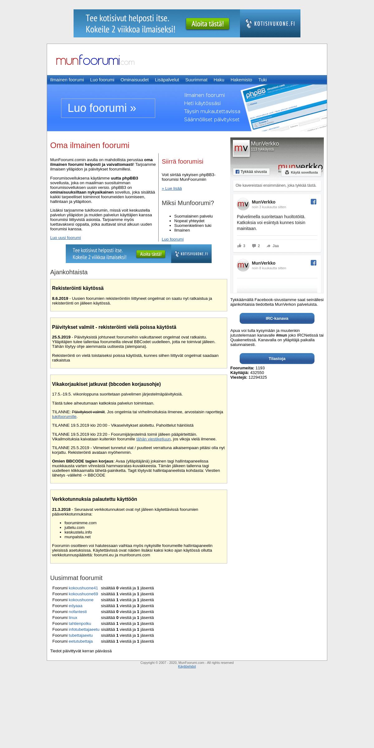 Ilmainen foorumi - MunFoorumi.com