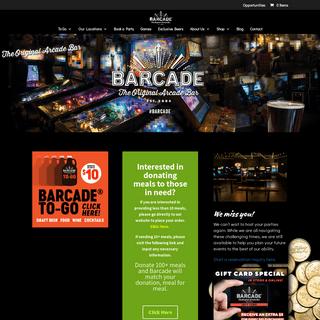 Home - Barcade® - The Original Arcade Bar