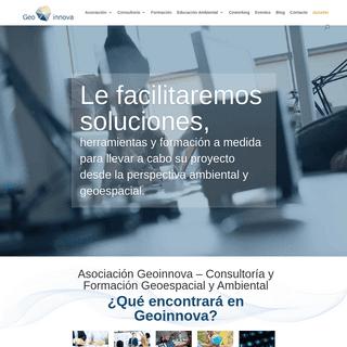 Asociación Geoinnova - Consultoría y formación en SIG y Medio Ambiente