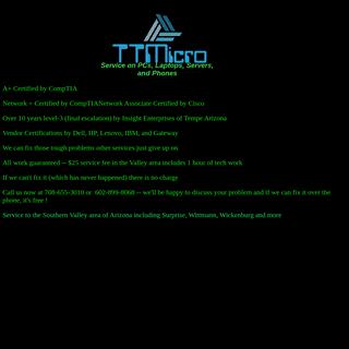 TTMicro on site PC services
