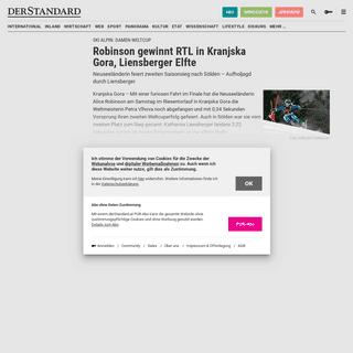 ArchiveBay.com - www.derstandard.at/story/2000114606350/vlhova-fuehrt-in-kranjska-gora-oesv-damen-hoffnungslos-zurueck - Robinson gewinnt RTL in Kranjska Gora, Liensberger Elfte - derStandard.at