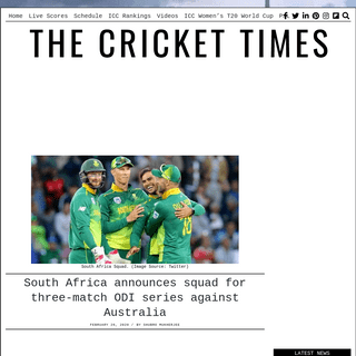 South Africa announces squad for three-match ODI series against Australia – CricketTimes.com