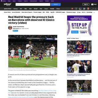 El Clásico- Real Madrid beats Barcelona on Vinícius Jr goal