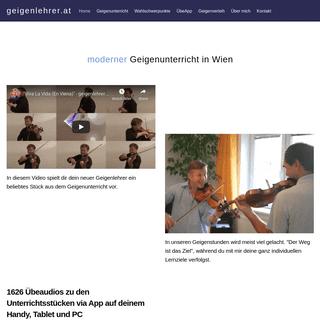 Geigenunterricht in Wien - speziell für Spätberufene