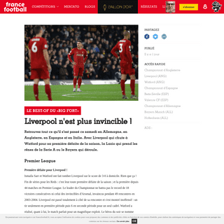 LE BEST-OF DU «BIG FORT» - Liverpool n'est plus invincible ! - France Football